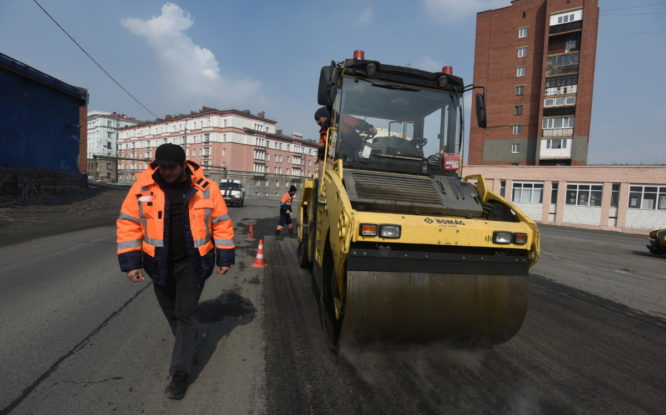 В Норильске уложат 20 тысяч квадратных метров асфальта