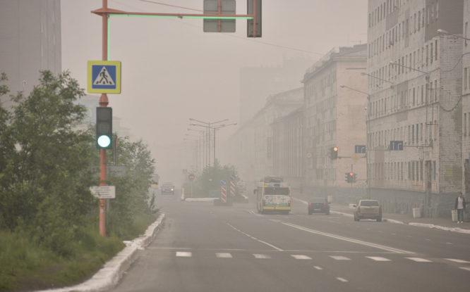 В Норильске выявили загрязнение воздуха от дыма якутских пожаров