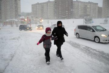 Норильские школьники ушли на первую в этом учебном году «снежную» актировку