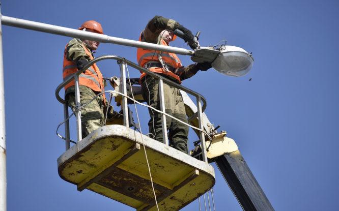 Новое освещение на главной улице Норильска заработает в конце недели